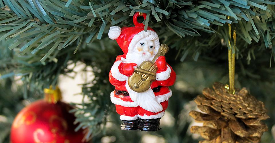 Decoração na minha árvore de Natal