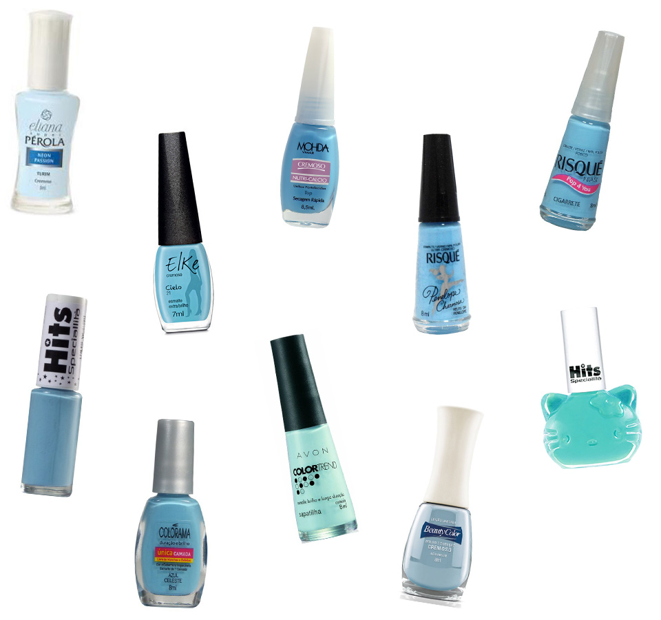 sugestões de esmaltes azuis nacional