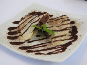 Quesadilla de chocolate