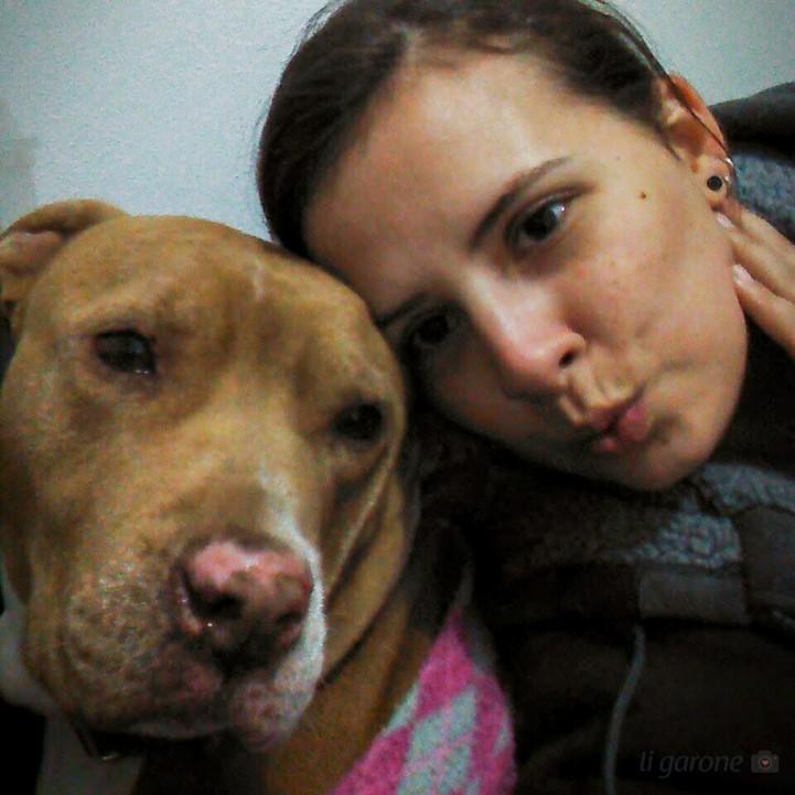 Selfie com a Pit bull mais linda e fofa!