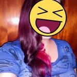 Não consegui uma foto decente com o cabelo roxo... então vai essa mesmo XD