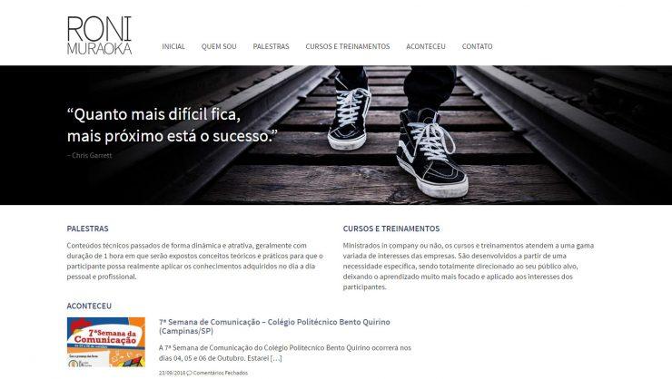 Roni Muraoka - Layout e codificação para WordPress feitos por mim
